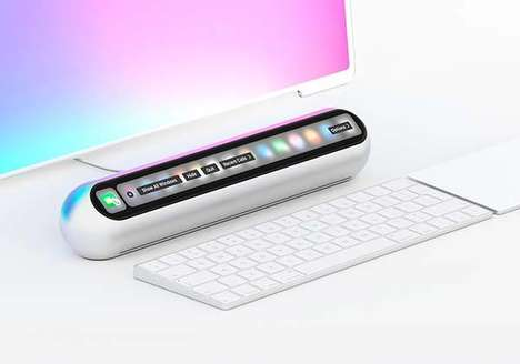 Touch Interface PC Units - The 'Taptop' Mini Desktop Computer Boasts a Touch Bar Design