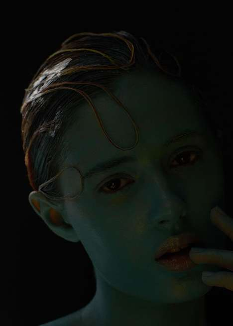 String-Topped Beauty Portraits - This Anna Kirikova Editorial Spotlights Conceptual Face Paint Looks