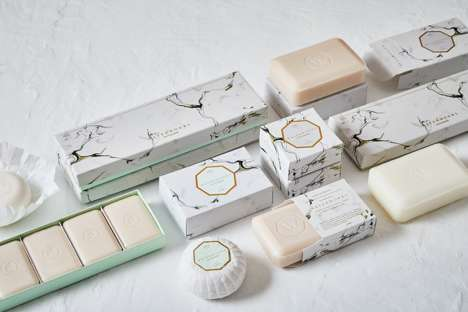 Marble-Themed Soap Branding - Stitch Design Co. Remixes the Waterworks' Visual Identity