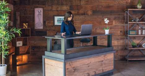 Vintage Standing Desks - XDesk's Vintage Series Features Sit-to-Stand Desks Worthy of Executives