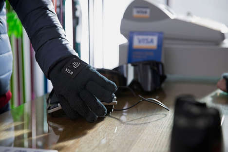 Tap-to-Pay Winter Gloves - Visa's Payment Gloves are Available to Those Attending the 2018 Olympics