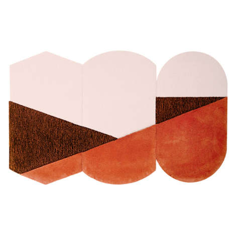 Abstract Rug Decor - Portego's Geometric Carpet Collection Consists of Elegantly Paired Forms