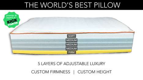 Customizable Comfort Pillows - 'Slice' is the First Pillow That Can Be Adjusted by Height & Firmness