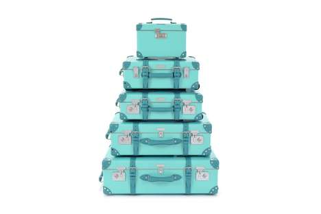Iconic Blue Luggage Collections - Globe-Trotter and Tiffany & Co Produced a Limited-Edition Line