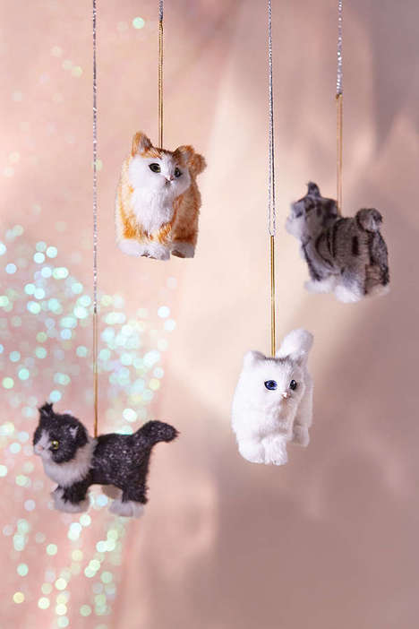 Feline Tree Adornments - Urban Outfitters Cat Christmas Ornaments Mimic Plush Toys