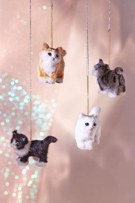 Feline Tree Adornments