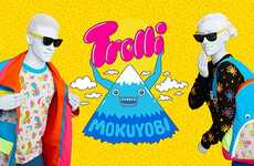 Collaborative Candy Clothing Lines - Trolli and Mokuyobi Partnered to Create 'Weirdly Woven'