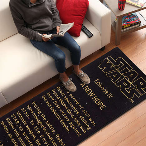 Movie Franchise Title Rugs - The Star Wars: A New Hope Title Crawl Floor Runner is Intergalactic