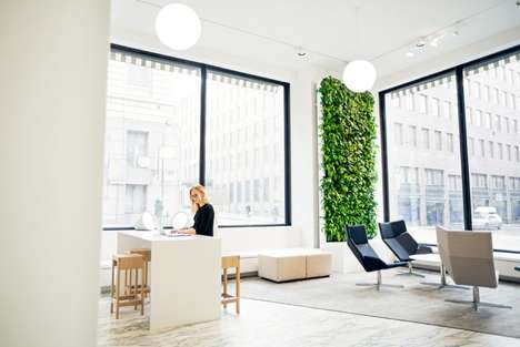AI Indoor Gardens - Naava's Smart Green Wall Helps Purify One's Interior with AI