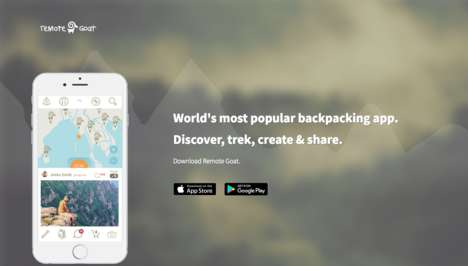 Backpacker Journey-Tracking Apps - The 'Remote Goat' App Lets You Track and Share Your Experience