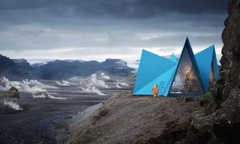 Icelandic Popup Shelters - The Skýli is a Shelter Built for Iceland's Trekking Trails