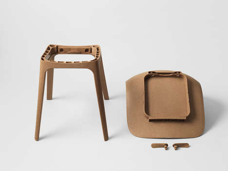 Sustainable No-Screw Chairs - The 'Odger' Chair from IKEA Comes Together with Click-Lock Assembly