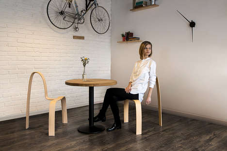 Ergonomically Minimalist Chairs - The 'INA' Chair Features an Impossibly Skeletal Design