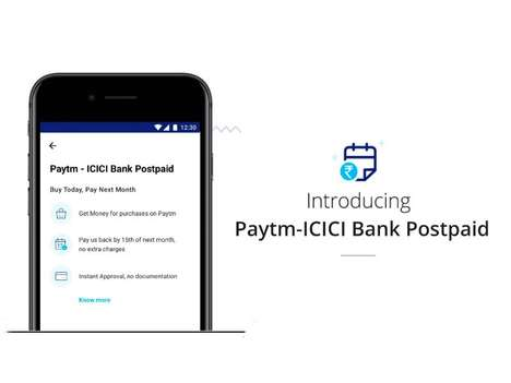 Instant Checkout Loans - ICICI Bank and Paytm are Offering a 'Pay Later' Option via Mobile Wallets