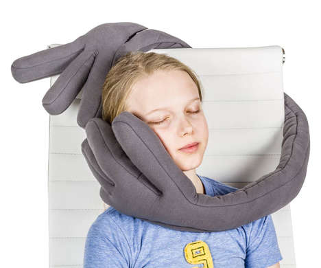 Head-Grasping Travel Pillows - The 'MonPère' Travel Pillow Grips onto Your Noggin for Ergonomic Rest
