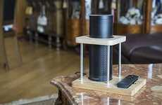 Bamboo Smart Speaker Stands