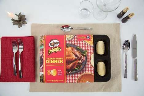 Dinner-Themed Chip Packaging - The Pringles Thanksgiving Dinner Tray Packs Mouthwatering Flavors