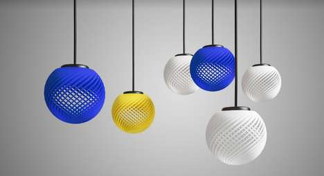 Printed Pendant Lights - Decimal's Customizable Lighting Solutions are Powered by 3D Printing