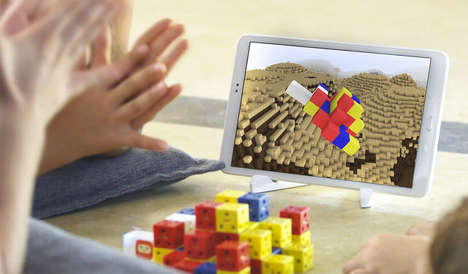 Mixed Reality Toy Blocks - Paracra Technology's Logitow Building Blocks for Kids Show Up on Tablets