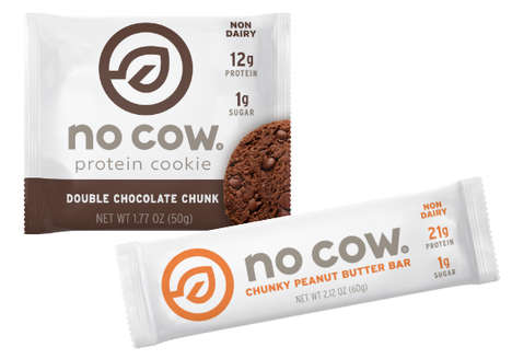 Dairy-Free Protein Snacks - 'No Cow' Makes Low-Sugar Plant-based Protein Cookies and Bars