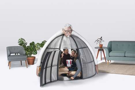 Novelty QSR Brand Pods - KFC is Selling a $10,000 Internet Escape Pod Featuring the Colonel