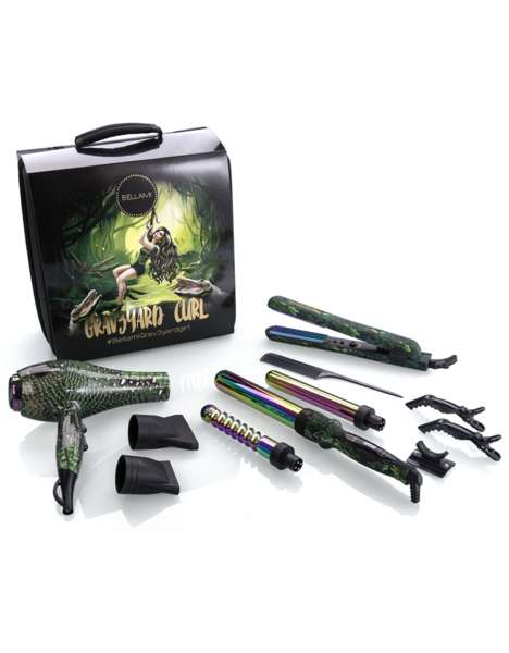 Vlogger Hairstyling Kits - Bellami Hair x Grav3yardGirl Launched a Collection of Hot Hair Tools