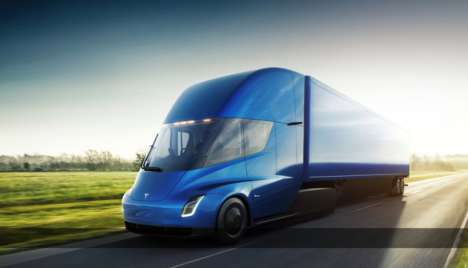 Electrified Shipping Trucks - The Tesla Semi Reduces Costs and Increases Safety