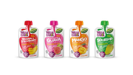 Vibrant Fruit Puree Packs - Wanabana Offers Fruits in Easy-to-Drink, Vibrant Forms
