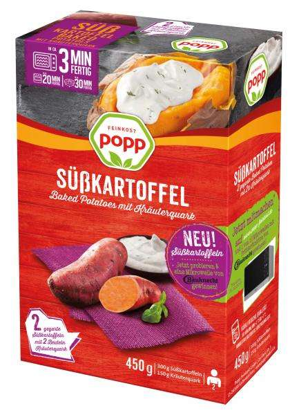 Baked Sweet Potato Kits - Popp Feinkost's Sweet Potato Meal is Paired with a Herb Curd Dip