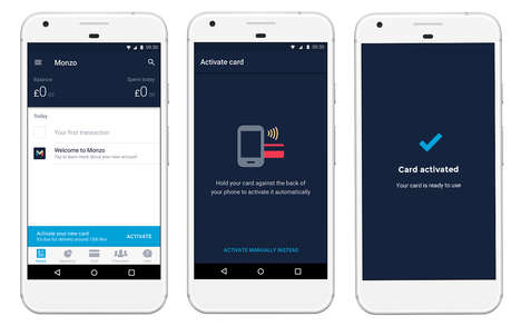 Smartphone-Activated Debit Cards - Monzo Offers Debit Card Activation by NFC-Enabled Phone