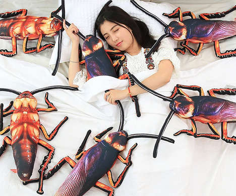 Snuggly Insect-Inspired Cushions - The UNIQME Plush Cockroach Pillow Puts an Infestation in Your Bed