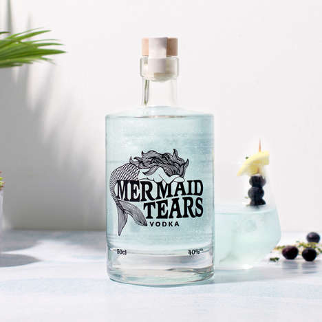 "Mythical Vodka Spirits - Firebox's Newest Novelty Vodka is Made from Shimmering ""Mermaid Tears"""
