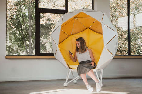 Enveloping Private Escape Chairs - 'The Planet' Chair Offers a Space for One to Escape