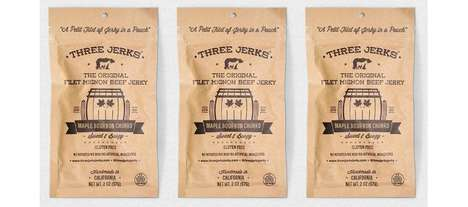 Boozy Artisan Meat Snacks - The Three Jerks Filet Mignon Maple Bourbon Churro Jerky is Savory
