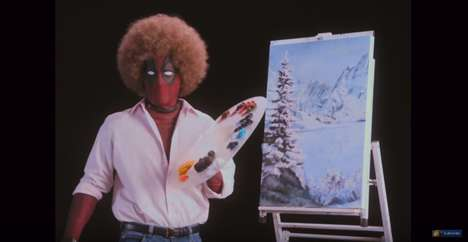 Parodic Painting Lessons - Deadpool's 'Wet on Wet' Trailer Parodies PBS Legend Bob Ross