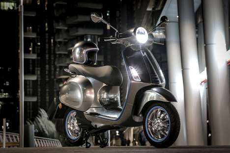 Graceful Electric Scooters - Piaggio's Vespa Elettrica is Set for Distribution in Spring 2018