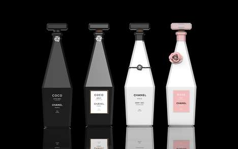 Perfume-Inspired Champagne Concepts - minimalist studio Has Created Champagne Inspired by Chanel