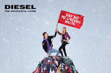 Anti Ugly Sweater Campaigns - Diesel's 'Say No To Uncool Wool' Campaign Encourages Other Options