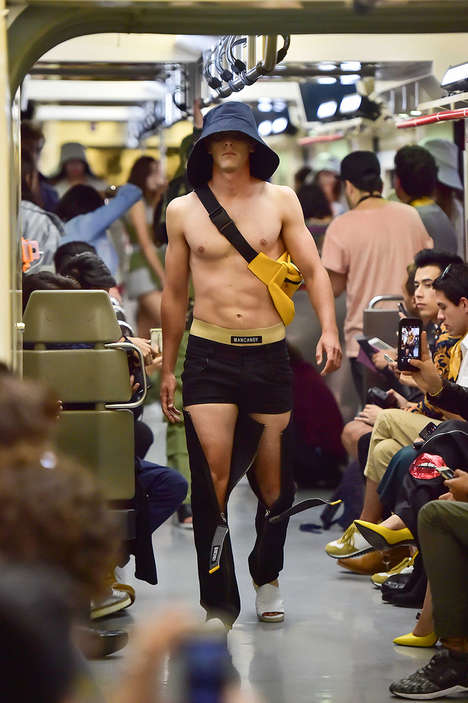 Subway-Centered Runway Shows - MANCANDY Debuted a New Collection During Mercedes-benz Fashion Week