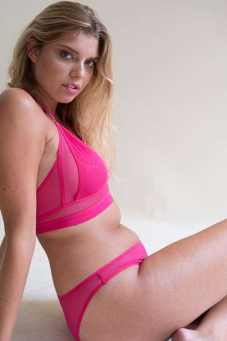 Reclaimed Fabric Lingerie - Lara Intimates Emphasizes Sustainability by Repurposing Unused Fabric