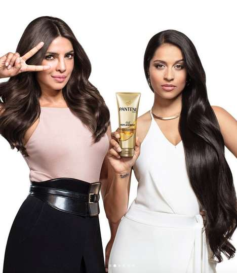 Collaborative Hair Product Campaigns - These Pantene Ads Feature Priyanka Chopra and Lilly Singh