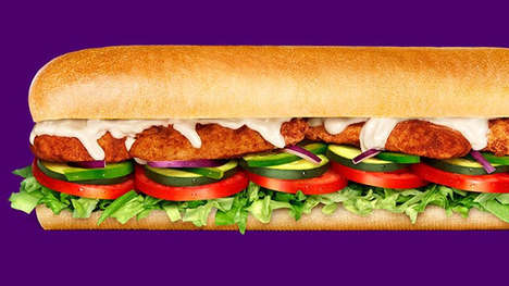 Premium Smoked Chicken Sandwiches - The Subway Australia Smokin' Mesquite Chicken Sandwich is Savory