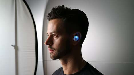 Ultra-Visible Wireless Earphones - The X-Shock is a Transparent Safety True Wireless Earphone