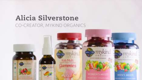 Organic Vegan Vitamins - Alicia Silverstone and Garden of Life Collaborated on 'mykind Organics'