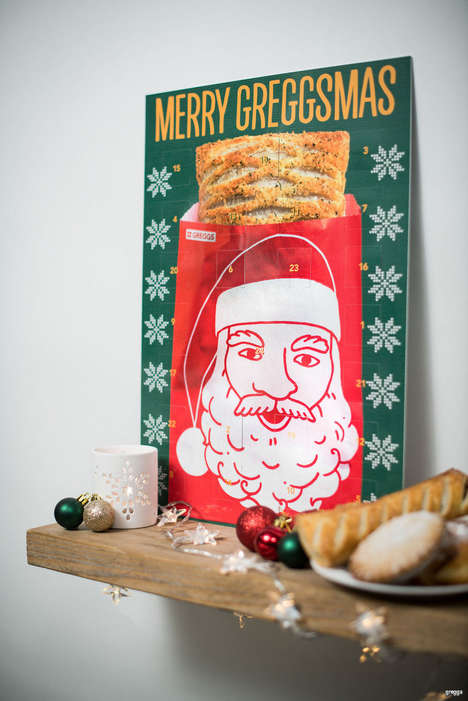 Bakery Coupon Advent Calendars - Greggs' December Advent Calendar Features Tear-Off Tokens for Food