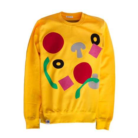 Abstract Pizza Apparel - Merrimaking's Pizza Sweatshirt is a Modern Take on 80s Art