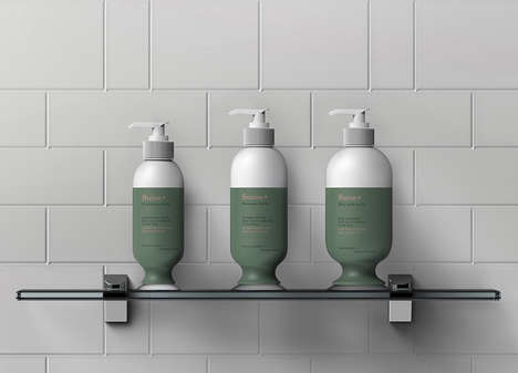 Suctioning Shampoo Bottles - The Suction Shampoo Bottle Keeps the Product in Place in the Shower