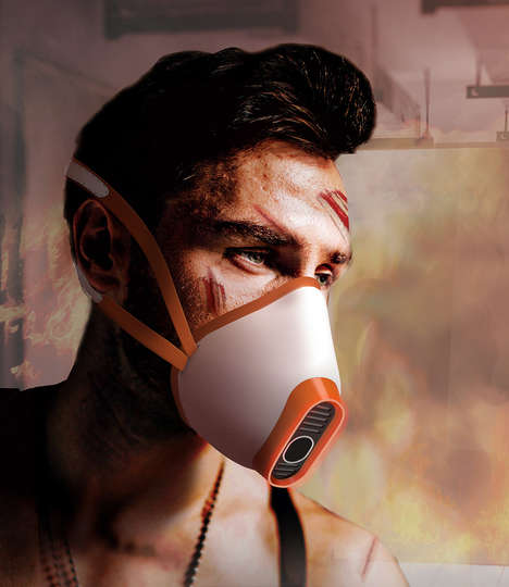 Built-in Whistle Fire Masks - The Whistle Mask Turns Exhales into Calls for Help