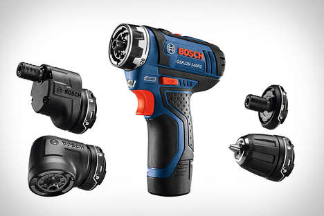 Five-in-One Power Tools - The Bosch 12V Max FlexiClick Drill Replaces a Number of Existing Tools