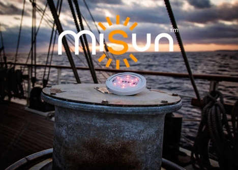 Sustainable Solar Lighting Systems - The 'MiSun' Solar Light Unit Works Indoors and Out